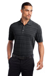 Ogio OG116 Mens Elixir Moisture Wicking Short Sleeve Polo Shirt Black Front