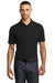 Ogio OG125 Mens Framework Moisture Wicking Short Sleeve Polo Shirt Black Front