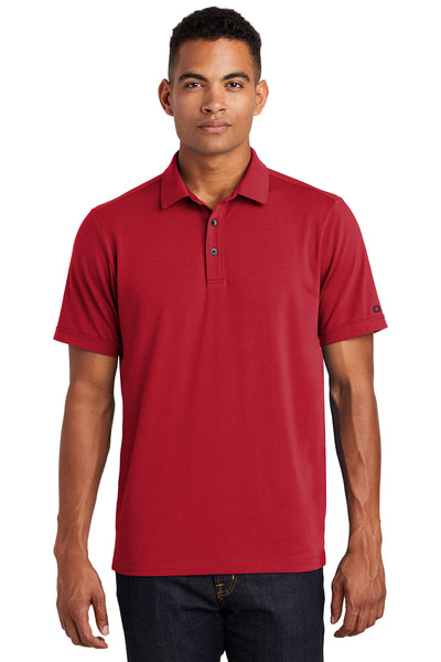 Ogio OG138 Mens Limit Moisture Wicking Short Sleeve Polo Shirt Red Front