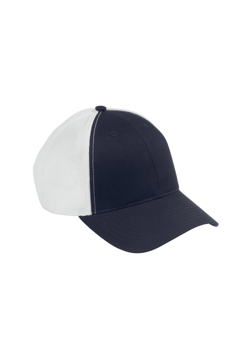 Big Accessories OSTM Mens Old School Adjustable Hat Navy Blue/White Front