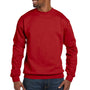 Hanes Mens EcoSmart Print Pro XP Fleece Crewneck Sweatshirt - Deep Red