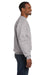 Hanes P160 Mens EcoSmart Print Pro XP Fleece Crewneck Sweatshirt Light Steel Grey Side