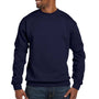 Hanes Mens EcoSmart Print Pro XP Fleece Crewneck Sweatshirt - Navy Blue