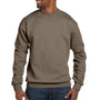 Hanes Mens EcoSmart Print Pro XP Fleece Crewneck Sweatshirt - Army Brown