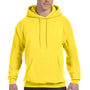 Hanes Mens EcoSmart Print Pro XP Hooded Sweatshirt Hoodie - Yellow