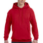 Hanes Mens EcoSmart Print Pro XP Hooded Sweatshirt Hoodie - Deep Red