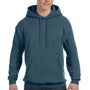 Hanes Mens EcoSmart Print Pro XP Hooded Sweatshirt Hoodie - Denim Blue