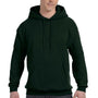 Hanes Mens EcoSmart Print Pro XP Hooded Sweatshirt Hoodie - Deep Forest Green