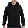 Hanes Mens EcoSmart Print Pro XP Hooded Sweatshirt Hoodie - Black