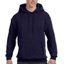 Hanes Mens EcoSmart Print Pro XP Hooded Sweatshirt Hoodie - Navy Blue