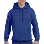 Hanes Mens EcoSmart Print Pro XP Hooded Sweatshirt Hoodie - Deep Royal Blue