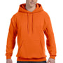 Hanes Mens EcoSmart Print Pro XP Hooded Sweatshirt Hoodie - Orange