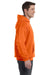 Hanes P170 Mens EcoSmart Print Pro XP Hooded Sweatshirt Hoodie Orange Side