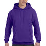 Hanes Mens EcoSmart Print Pro XP Hooded Sweatshirt Hoodie - Purple