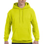 Hanes Mens EcoSmart Print Pro XP Hooded Sweatshirt Hoodie - Safety Green