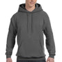 Hanes Mens EcoSmart Print Pro XP Hooded Sweatshirt Hoodie - Smoke Grey