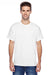 Hanes P4200 Mens X-Temp Moisture Wicking Short Sleeve Crewneck T-Shirt White Front