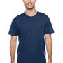 Hanes Mens X-Temp Moisture Wicking Short Sleeve Crewneck T-Shirt - Navy Blue