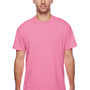 Hanes Mens X-Temp Moisture Wicking Short Sleeve Crewneck T-Shirt - Heather Neon Pink
