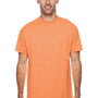 Hanes Mens X-Temp Moisture Wicking Short Sleeve Crewneck T-Shirt - Heather Neon Orange