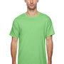 Hanes Mens X-Temp Moisture Wicking Short Sleeve Crewneck T-Shirt - Heather Neon Lime Green