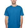 Hanes Mens X-Temp Moisture Wicking Short Sleeve Crewneck T-Shirt - Heather Neon Blue