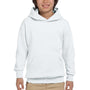 Hanes Youth EcoSmart Print Pro XP Hooded Sweatshirt Hoodie - White