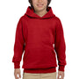 Hanes Youth EcoSmart Print Pro XP Hooded Sweatshirt Hoodie - Deep Red