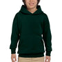 Hanes Youth EcoSmart Print Pro XP Hooded Sweatshirt Hoodie - Deep Forest Green