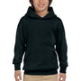 Hanes Youth EcoSmart Print Pro XP Hooded Sweatshirt Hoodie - Black