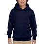 Hanes Youth EcoSmart Print Pro XP Hooded Sweatshirt Hoodie - Navy Blue