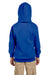 Hanes P473 Youth EcoSmart Print Pro XP Hooded Sweatshirt Hoodie Royal Blue Back