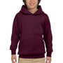 Hanes Youth EcoSmart Print Pro XP Hooded Sweatshirt Hoodie - Maroon