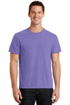 Port & Company PC099 Mens Beach Wash Short Sleeve Crewneck T-Shirt Amethyst Purple Front