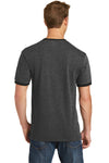 Port & Company PC54R Mens Core Ringer Short Sleeve Crewneck T-Shirt Heather Dark Grey/Black Back