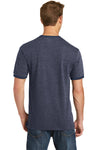 Port & Company PC54R Mens Core Ringer Short Sleeve Crewneck T-Shirt Heather Navy Blue/Navy Blue Back
