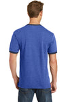 Port & Company PC54R Mens Core Ringer Short Sleeve Crewneck T-Shirt Heather Royal Blue/Navy Blue Back