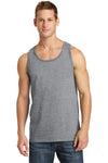 Port & Company PC54TT Mens Core Tank Top Heather Grey Front