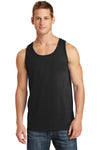 Port & Company PC54TT Mens Core Tank Top Black Front