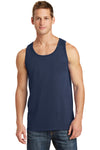 Port & Company PC54TT Mens Core Tank Top Navy Blue Front