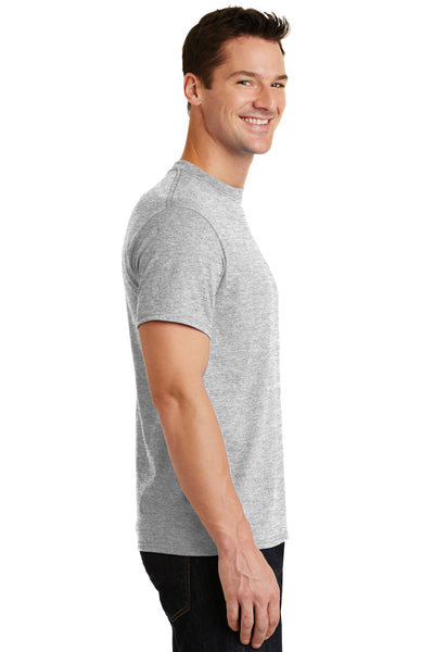 Port & Company PC55 Mens Core Short Sleeve Crewneck T-Shirt Ash Grey Side