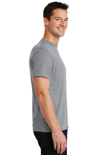 Port & Company PC55 Mens Core Short Sleeve Crewneck T-Shirt Heather Grey Side