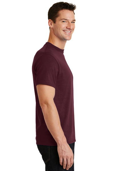 Port & Company PC55 Mens Core Short Sleeve Crewneck T-Shirt Maroon Side