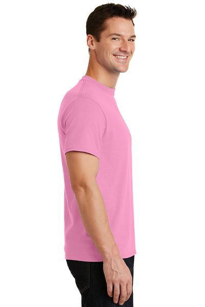 Port & Company PC55 Mens Core Short Sleeve Crewneck T-Shirt Candy Pink Side