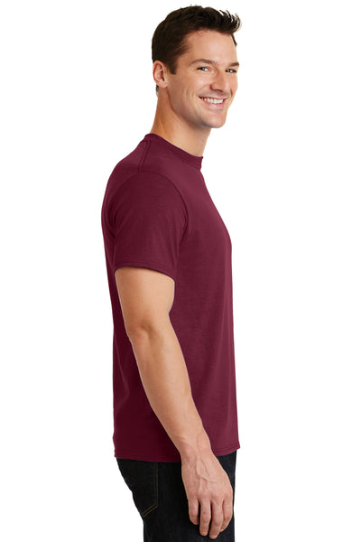 Port & Company PC55 Mens Core Short Sleeve Crewneck T-Shirt Cardinal Red Side