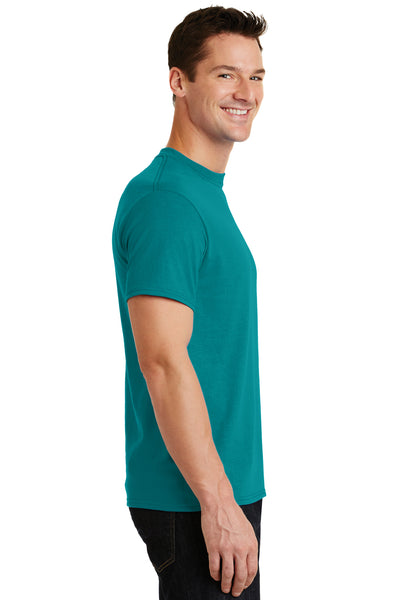Port & Company PC55 Mens Core Short Sleeve Crewneck T-Shirt Jade Green Side
