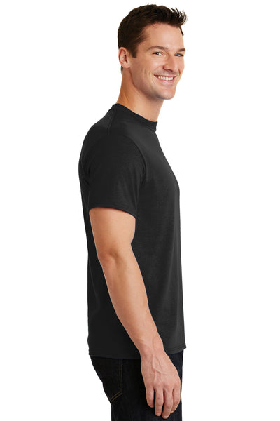 Port & Company PC55 Mens Core Short Sleeve Crewneck T-Shirt Black Side