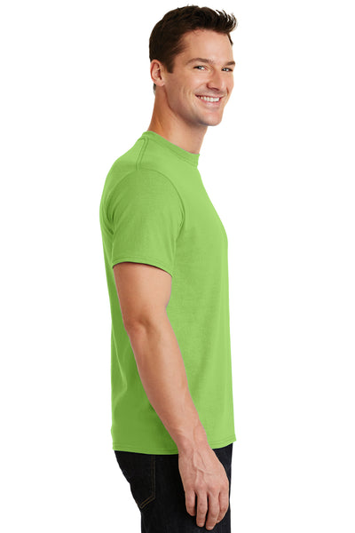 Port & Company PC55 Mens Core Short Sleeve Crewneck T-Shirt Lime Green Side