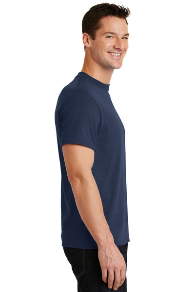 Port & Company PC55 Mens Core Short Sleeve Crewneck T-Shirt Navy Blue Side
