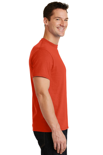 Port & Company PC55 Mens Core Short Sleeve Crewneck T-Shirt Orange Side